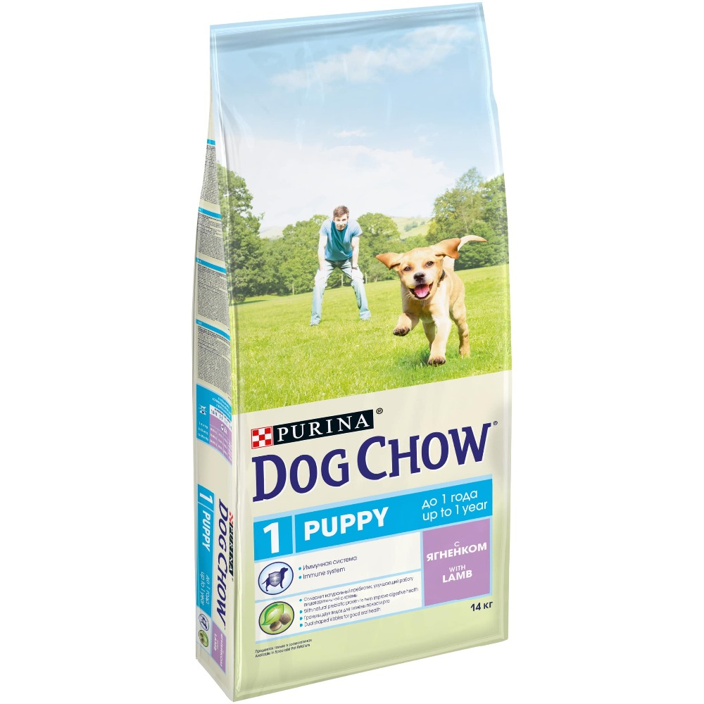 Dog Chow dry food for puppies up to 1 year old with a lamb, 14 kg the 1 000 year old boy
