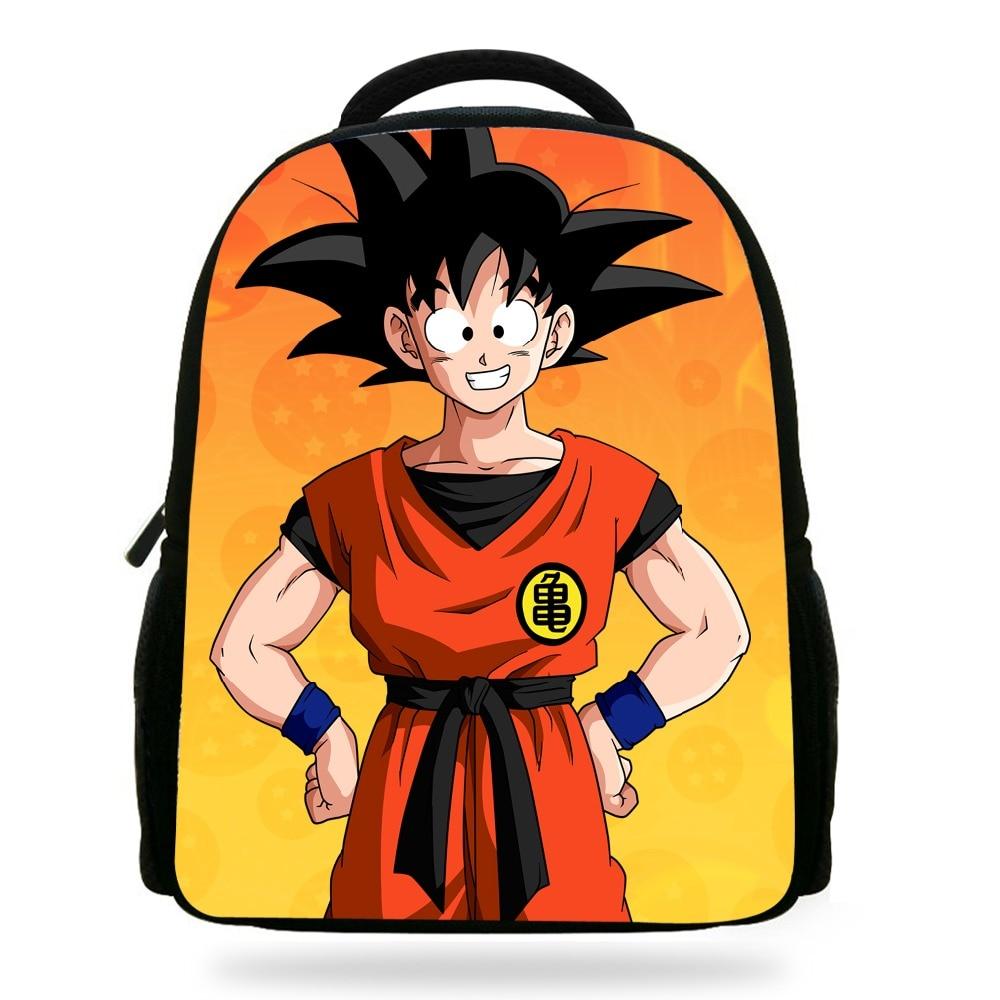 14Inch Mochila School Kids Backpack Dragon Ball Boys Super Saiyan Print Children School Bags For Teenagers Wuko