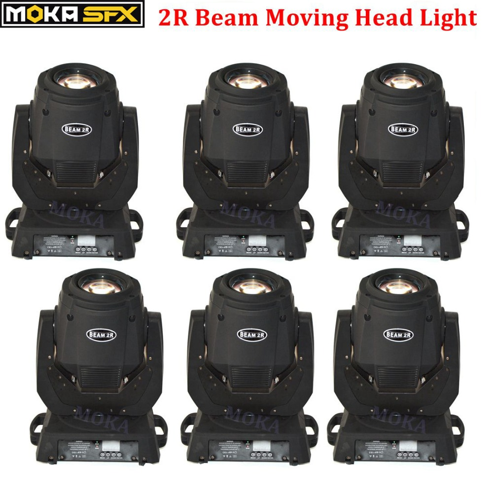 6pcs/lot 2R Sharpy Beam Spot Wash Lights Moving Head Lightings Stage & DJ Light For Nightclub DJ Wedding Party Decorations