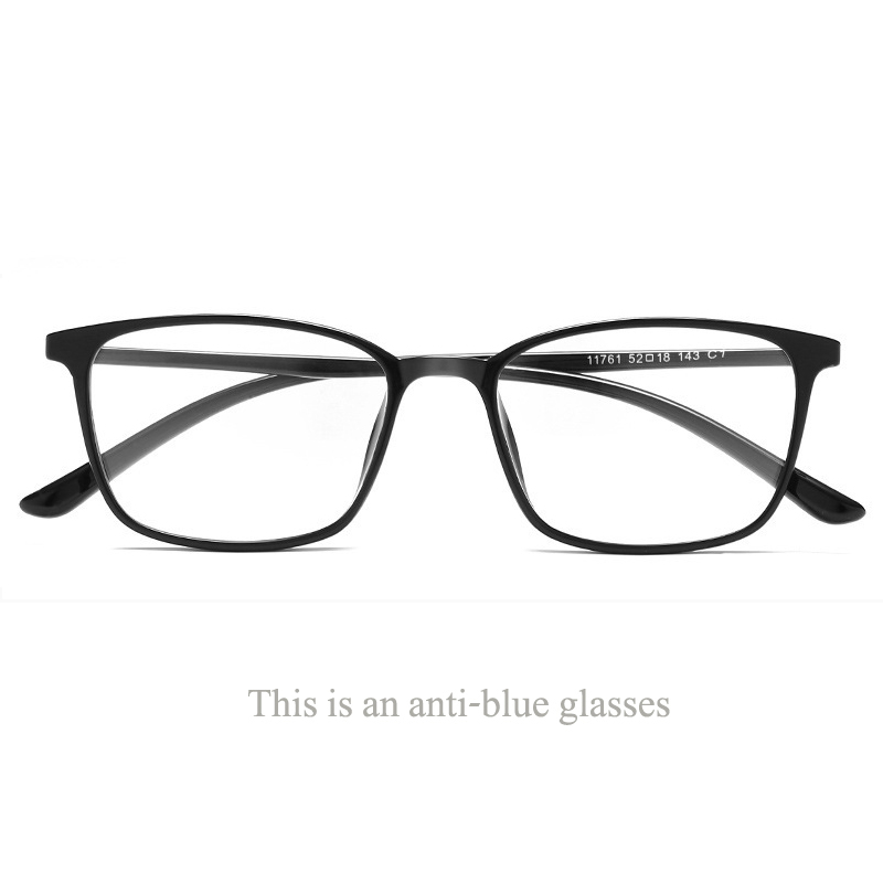 30562a06d210 Exquisite Square Shape TR glasses frame ultra light anti-blue eye  protection trend glasses Korean students literary flat mirror.
