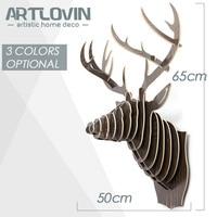 Grote 3D Puzzel Houten DIY Model Muur Opknoping Deer Head Elk Hout Dier Wildlife Sculptuur Beeldjes Gift Ambachten Woondecoratie