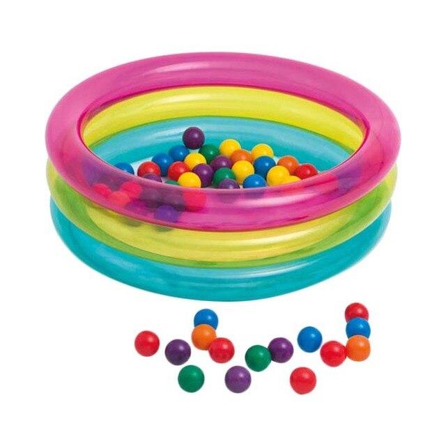 Надувной бассейн Intex Классический с шариками
