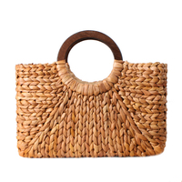 Women Vintage Rattan Handbag Female Bohemian Summer Beach Straw Bags Lady Simple Weave Bag Handmade Casual Large Tote SS3032