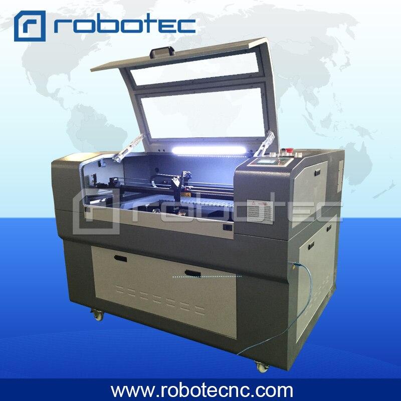 Robotec 100w Laser Cutting Machine 6090/CW5200 Water Chiller Laser Cutter Machinery For Wood Acrylic Plexiglass Cutting