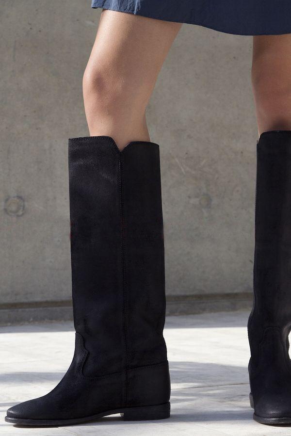 En Donna Wedge Caché De Cuir Sur Automne Femme As Martins Bottes Hiver as Véritable Picture Picture Hautes Scarpe Chaussures Glissement D'équitation 2018 Talon P4wPd