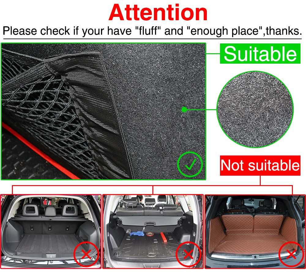 Image 5 - Car Trunk Nylon Rope Net / luggage net with backing For Volkswagen VW GOLF 5 6 7 GTI TIGUAN PASSAT B5 B6 B8 JETTA MK5 MK6 POLO-in Car Stickers from Automobiles & Motorcycles