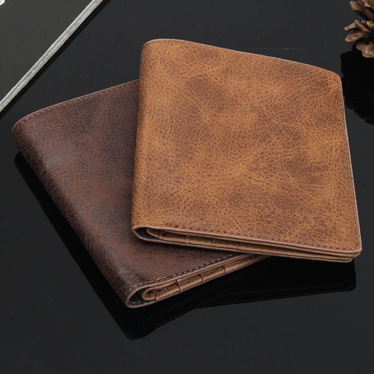 Exquisite Men's Soft Leather Slim Bifold Money Purse Business Credit ID Card Holder Wallet Multifunctional Card Note Holder 2017 men ultra thin short bifold business leather wallet money card holder bag purse traveling bifold business leather june0627