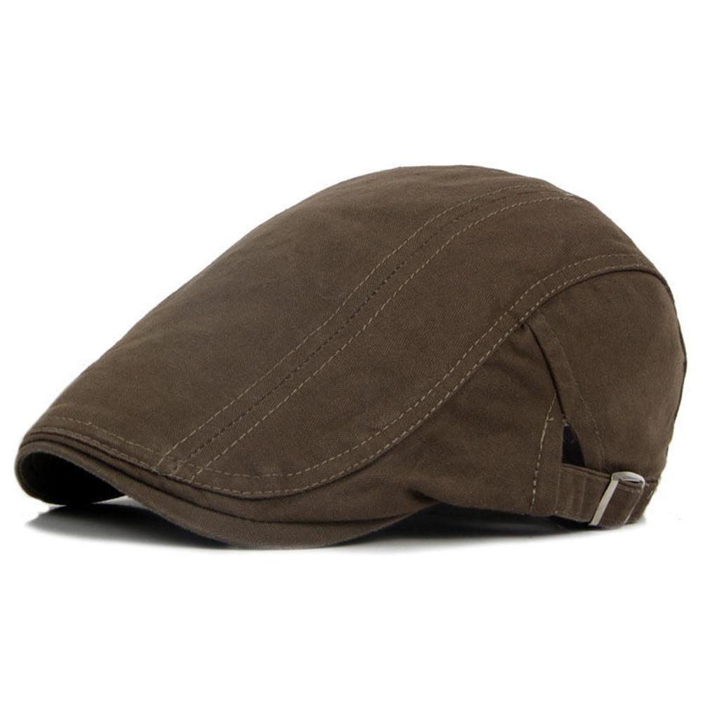 2c0322061 Classic Western Men Newsboy Caps Spring Retro Adjustable Casual Ivy Hat  Summer Flat Brim Beret Caps Men's Hat