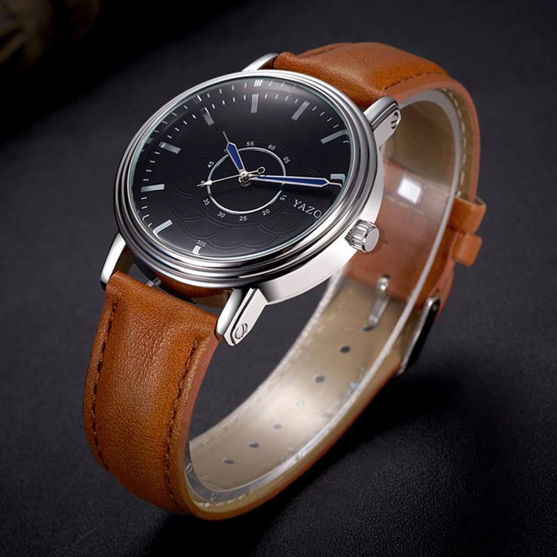 Men Wrist Watches Leather Band Men Watches Male Quartz Watches - Men's Watches