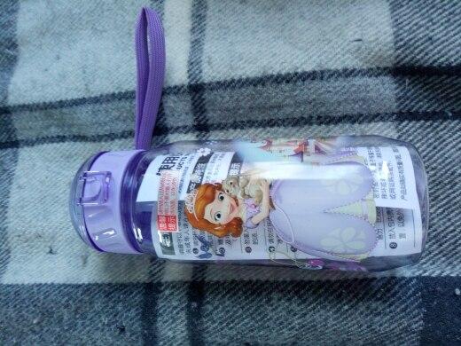 Disney моя бутылка Для детей Детские мультфильм Минни Микки прекрасный экологичный с крышкой Пеший Туризм соломы Тип Пластик бутылка для воды