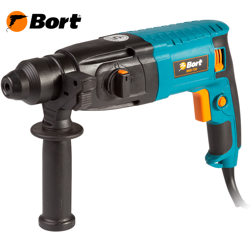 BORT Electric Drill Rotary Hammer Drill Impact Drill Multi function Adjustable Speed Woodworking Power Tool with BMC Accessories BHD-720 bort electric drill rotary hammer drill impact drill multi function adjustable speed woodworking power tool with bmc accessories bhd 900