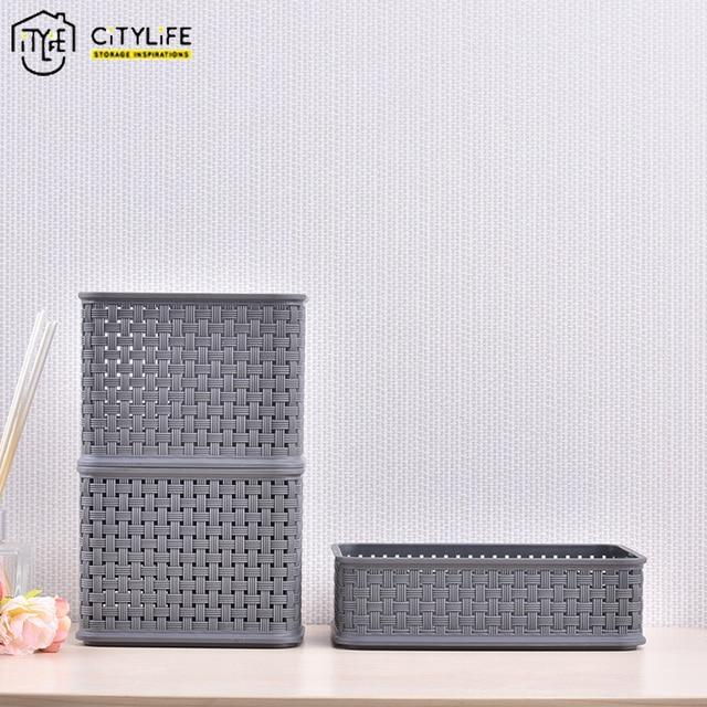 office storage baskets. Citylife Suit Plastic Office Storage Basket Hollow Lace Desk Makeup Organizer Home Box Baskets