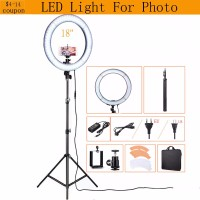 48CM 240pcs LED Photography Video Photo Studio 55W 5500K Daylight Diva Selfie Ring Lamp Light With