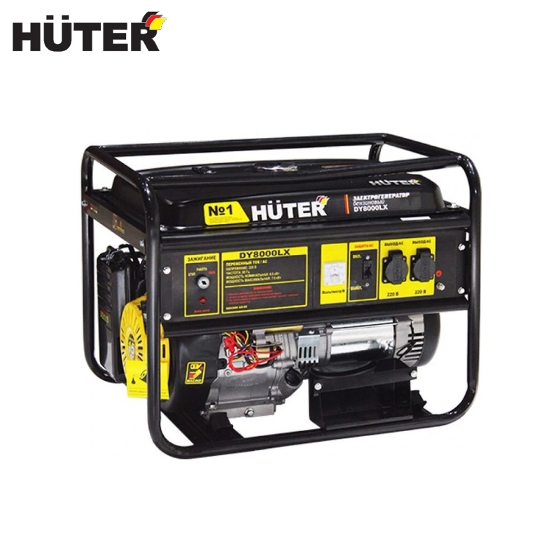 цена на Electric generator HUTER DY8000LX Power home appliances Backup source during power outages Benzine power stations