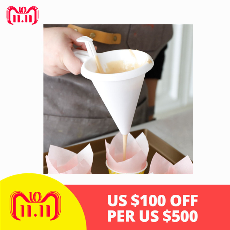 Kitchen /& Home Candy Batter Funnel Pastry Tools Cream Dispenser Baking Mold