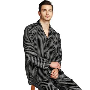 Image 3 - メンズシルクサテンパジャマパジャマ PJS パジャマセット部屋着 U.S.M 、 L 、 XL 、 XXL 、 3XL 、 4XL