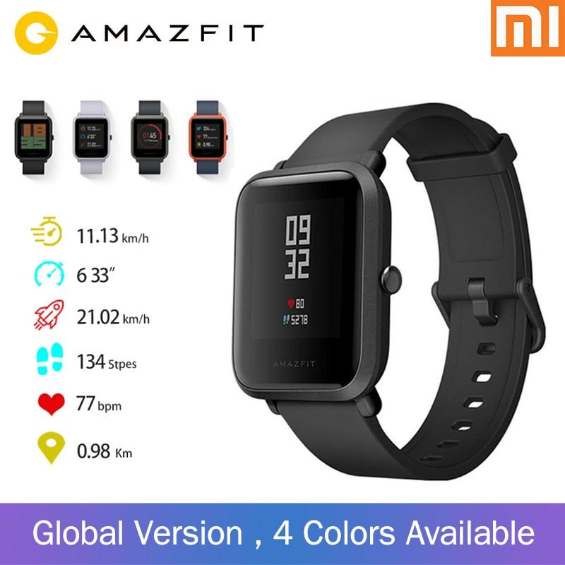Xiaomi Huami Amazfit Bip Version globale montre intelligente GPS Gloness écran couleur montre intelligente 45 jours en veille pour téléphone MI8 IOS