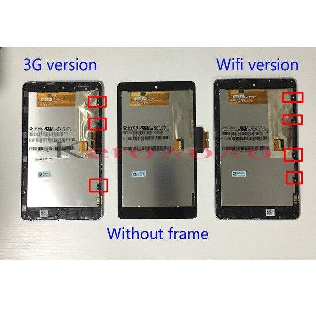 ЖК-дисплей дисплей + сенсорная панель (диджитайзер) Экран с рамкой для Google nexus 7 2012 ME370 ME370T ME370TG nexus 7c 3g или wifi-версия