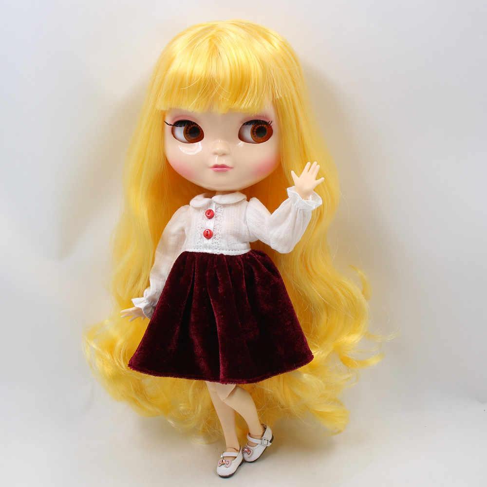 ICY 1/6 azone BONECA pequena mama corpo cabelo com franja natural da pele amarela/franjas 30cm incluindo conjunto de mão A & B No.280BL1200