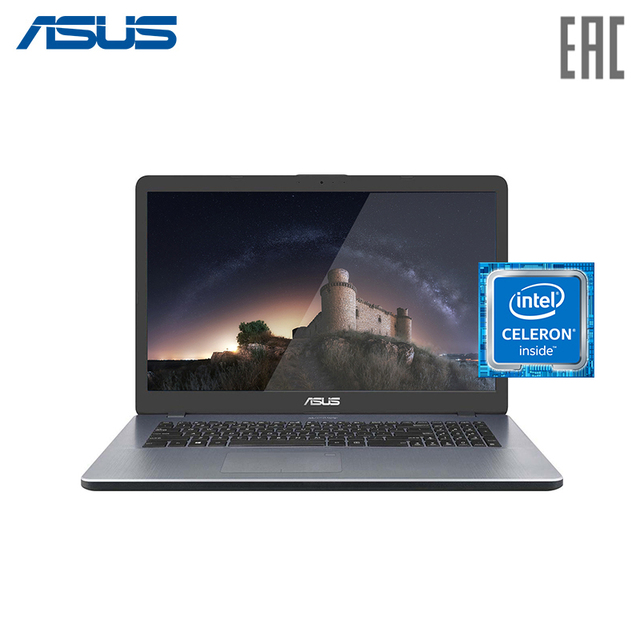 "Ноутбук ASUS X705MA-BX012T 17,3"" HD/Intel N4000/4 ГБ/ТБ/Без ODD/Windows 10/ Star Grey (90NB0IF2-M00730)"