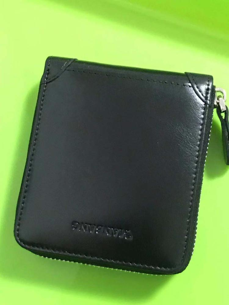 ManBang Men's Wallet Genuine Leather Men's Zipper Male Short Coin Purse Pockets Fine Gift For Card Holder High Quality For Mens