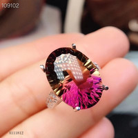 KJJEAXCMY fine jewelry 925 Pure Silver Embedded Natural Amethyst Female Ring Support Detection