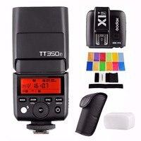 Godox TT350F + X1T F טריגר 2.4 גרם HSS 1/8000 s TTL GN36 המצלמה פלאש Speedlite עבור פוג 'י מצלמות עם מסנני צבע EACHSHOT-בפלאשים מתוך מוצרי אלקטרוניקה לצרכנים באתר