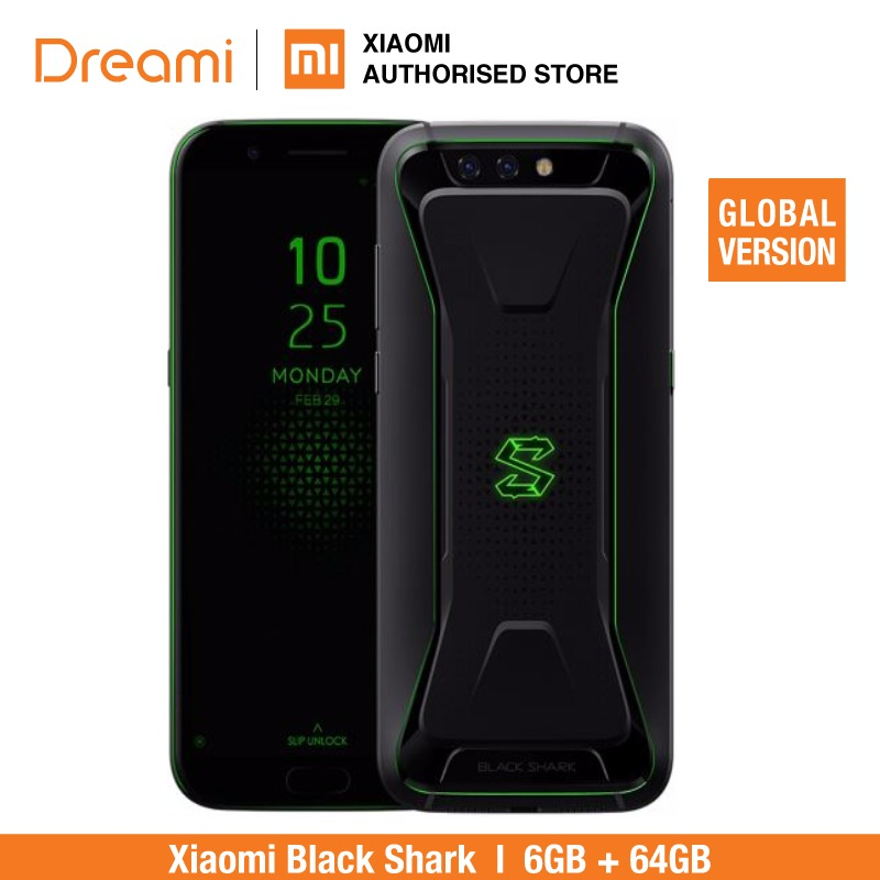 Global Versão Xiaomi Black Shark 6 64GB ROM GB RAM (Rom Oficial) Blackshark, Snapdragon 845, adreno 630