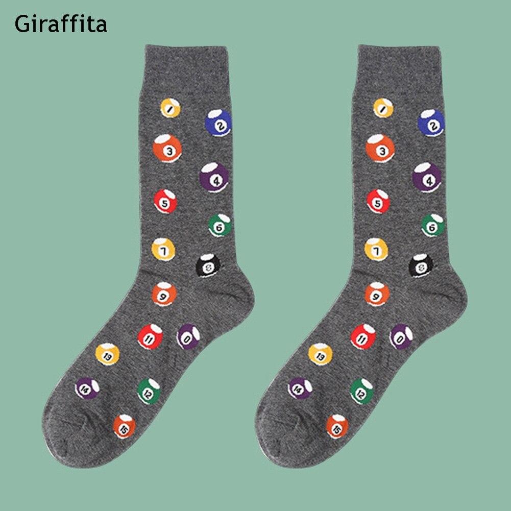 1 Pair High Quality Socks Men Musical Note Beer Printed Cotton Hip Hop Long Funny Socks Harajuku Designer