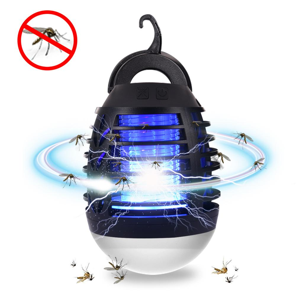 5W USB Rechargeable Mosquito Killer Lamp LED Lamparas Outdoor Night Light Home Anti Bug Zapper Purple Radiation Lamps 90-180LM