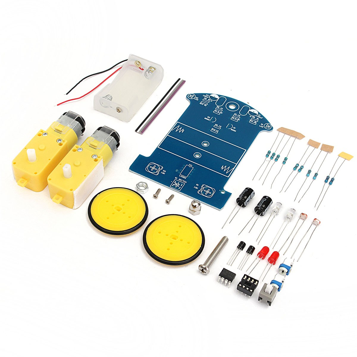 High Quality New DIY Smart Tracking Robot Car Electronic Kit With Reduction Motor SetHigh Quality New DIY Smart Tracking Robot Car Electronic Kit With Reduction Motor Set