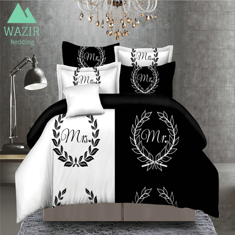 WAZIR 5 Patterns Cool 3D Printed Couples Bedding Set Duvet ...