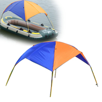 2 3 Person Inflatable PVC Boat Sun Shelter Awning Sun Shade Rain Cover Fishing Tent for Rowing Boat Accessories Kayak Canoe Kit