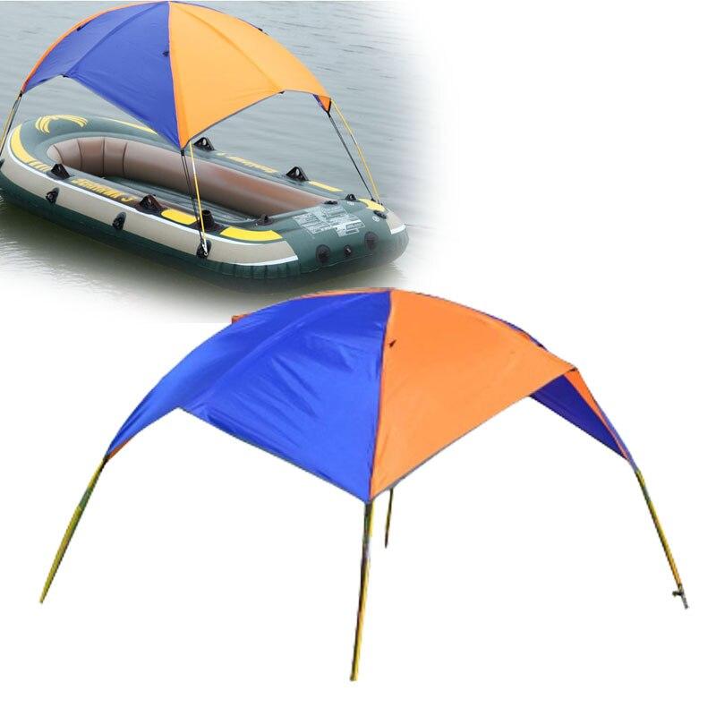 2-3 personne gonflable PVC bateau abri de soleil auvent ombre de soleil couverture de pluie tente de pêche pour aviron bateau accessoires Kayak canoë Kit