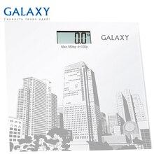 Весы напольные Galaxy GL 4803 (Максимальная нагрузка до 180кг, точность измерения 100грамм, LCD-дисплей, ультратонкий дизайн, автовкл/откл, сверхточная сенсорная система датчиков)