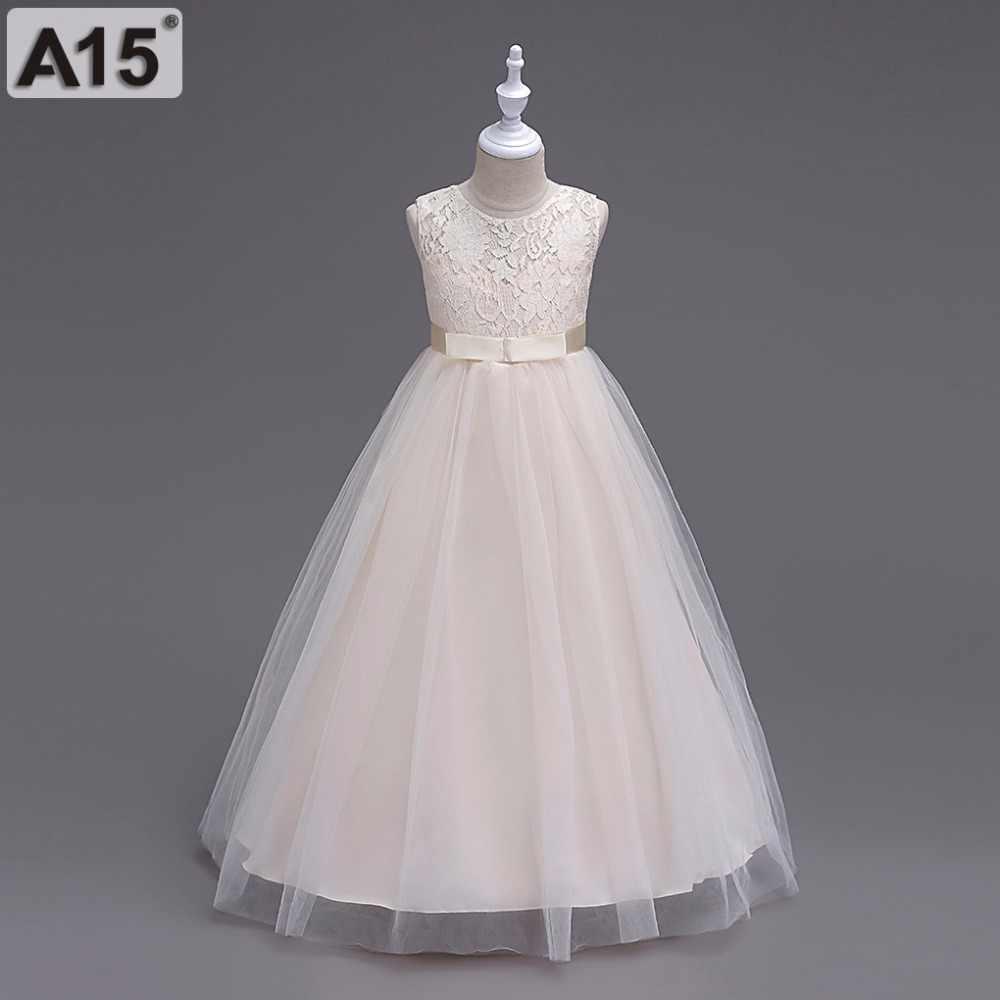2018 летняя детская Платье в цветочек для девочек-подростков для девочек свадебная церемония, Вечеринка платье для выпускного вечера для девочек, одежда для девочек от 5 на возраст 6, 8, 10, 12 лет до 14 лет