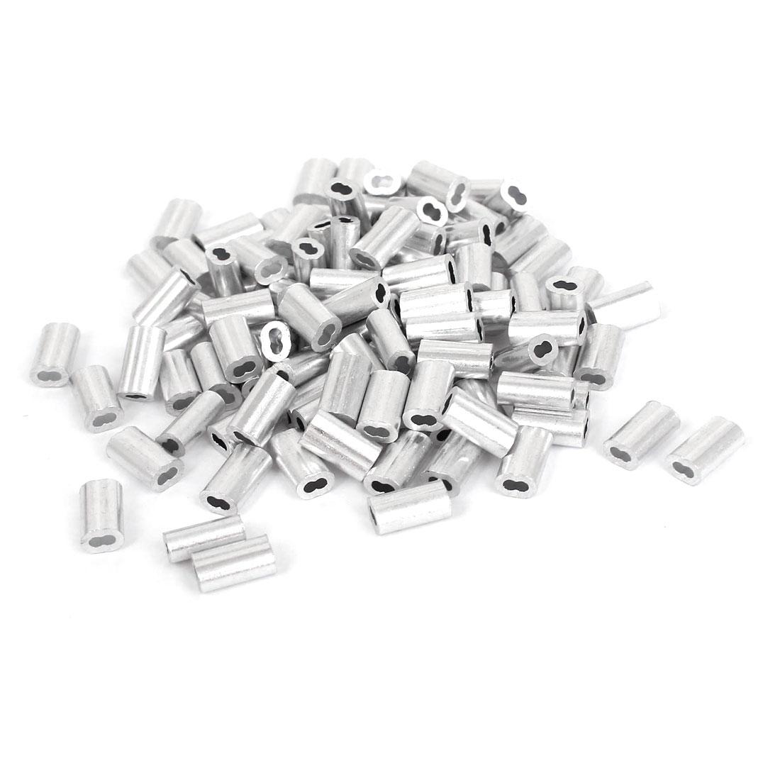 """uxcell 1/20 """"1.2 мм трос алюминиевые"""