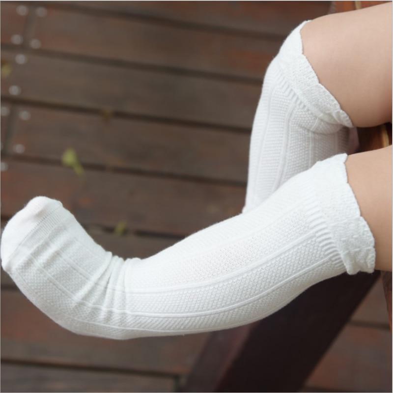 Toddler Socks Baby Knee High Sock Solid Color Children