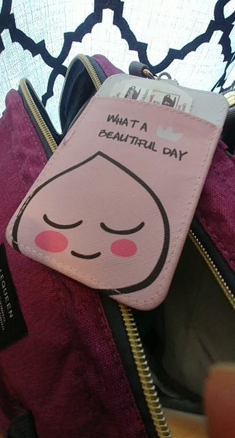 Women Leather Card Holder Small Fresh Cute Fruit Bus ID Bank Credit Cards Case Kids Cartoon Pink Strawberry Cover With Keychain photo review