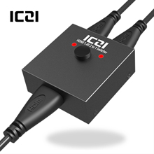 ICZI 4K 3D HDMI Switch Bi-Direction Switcher 1 to 2/2 in out for PC Laptop XBOX 360 PS4/3 TV Box HDTV Splitter