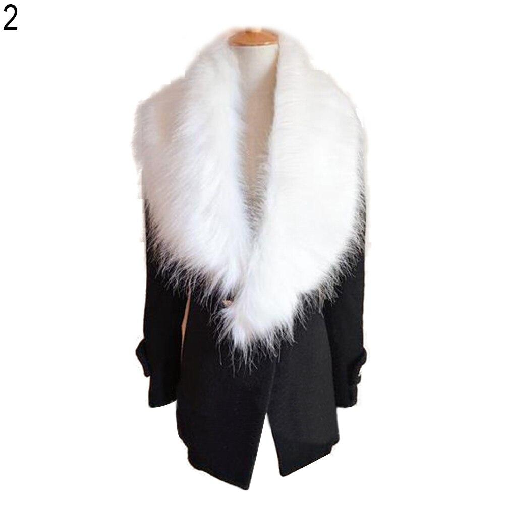 Winter Faux Fur Collar   Scarf   Shawl Women Neck Warmer Fashion Long   Scarves     Wrap