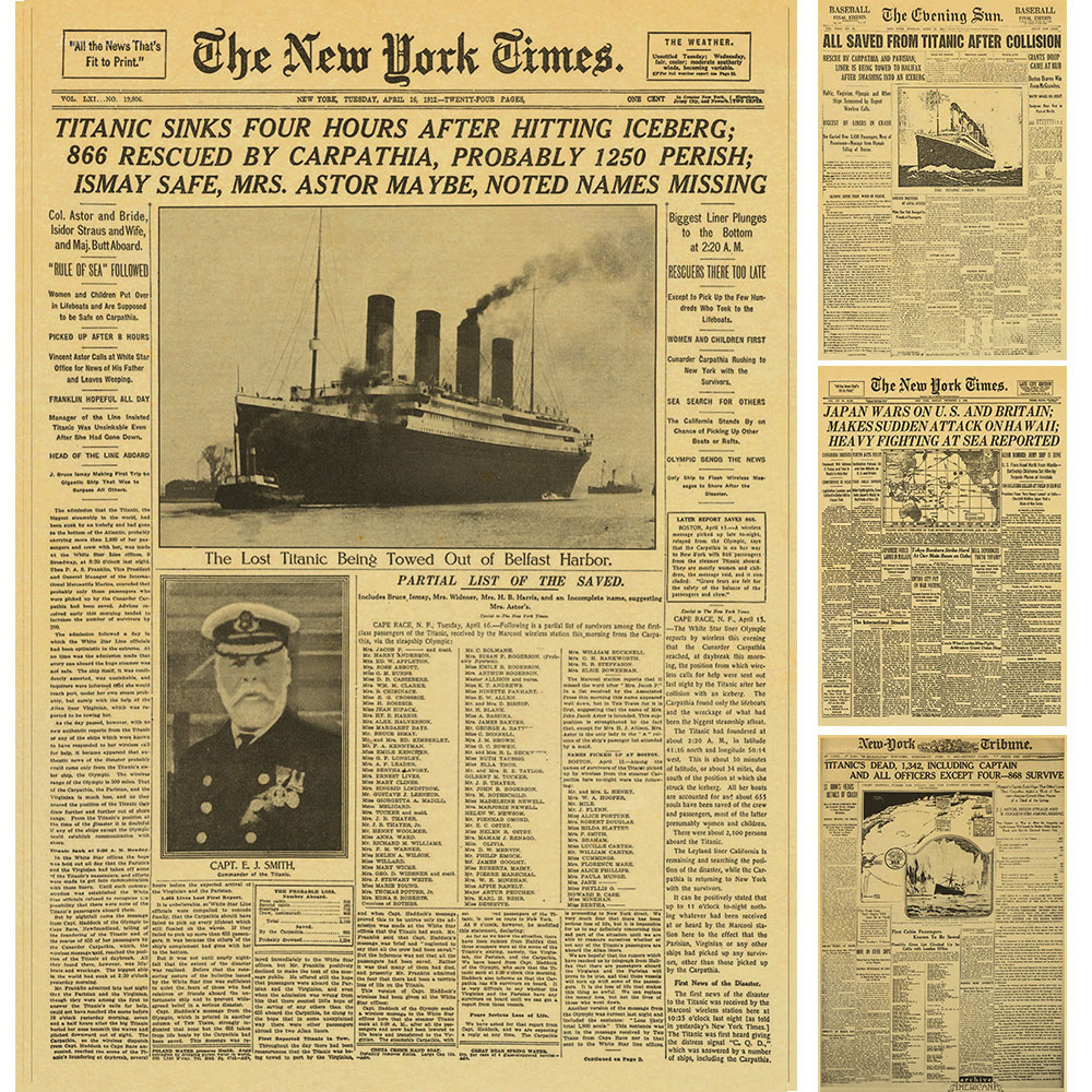 The New York Times Old Newspaper poster Vintage drawing retro ...