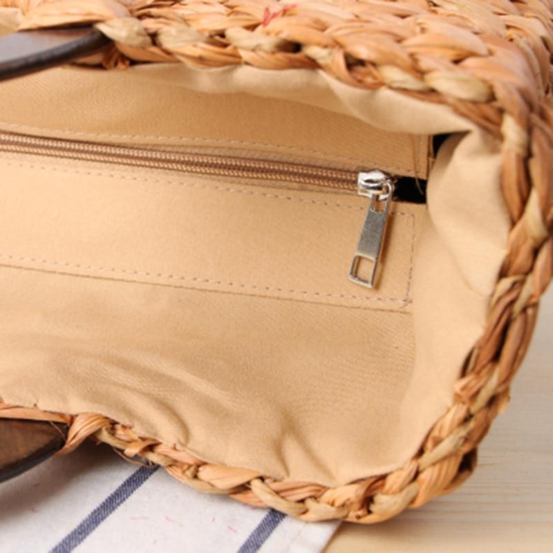 Women Vintage Rattan Handbag Female Bohemian Summer Beach Straw Bags Lady Simple Weave Bag Handmade Casual Large Tote SS3032 (13)