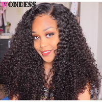 Wondess Hair Curly Hair Bundles Unprocessed Brazilian Virgin Hair Weave Natural Color Curly Human Hair 3/4 Bundles Free Shipping