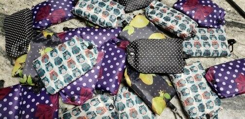 Nylon vouwbare draagbare winkelen handtassen vakantie waszakken Floral afdrukken herbruikbare grote vrouwen schouder boodschappentassen photo review