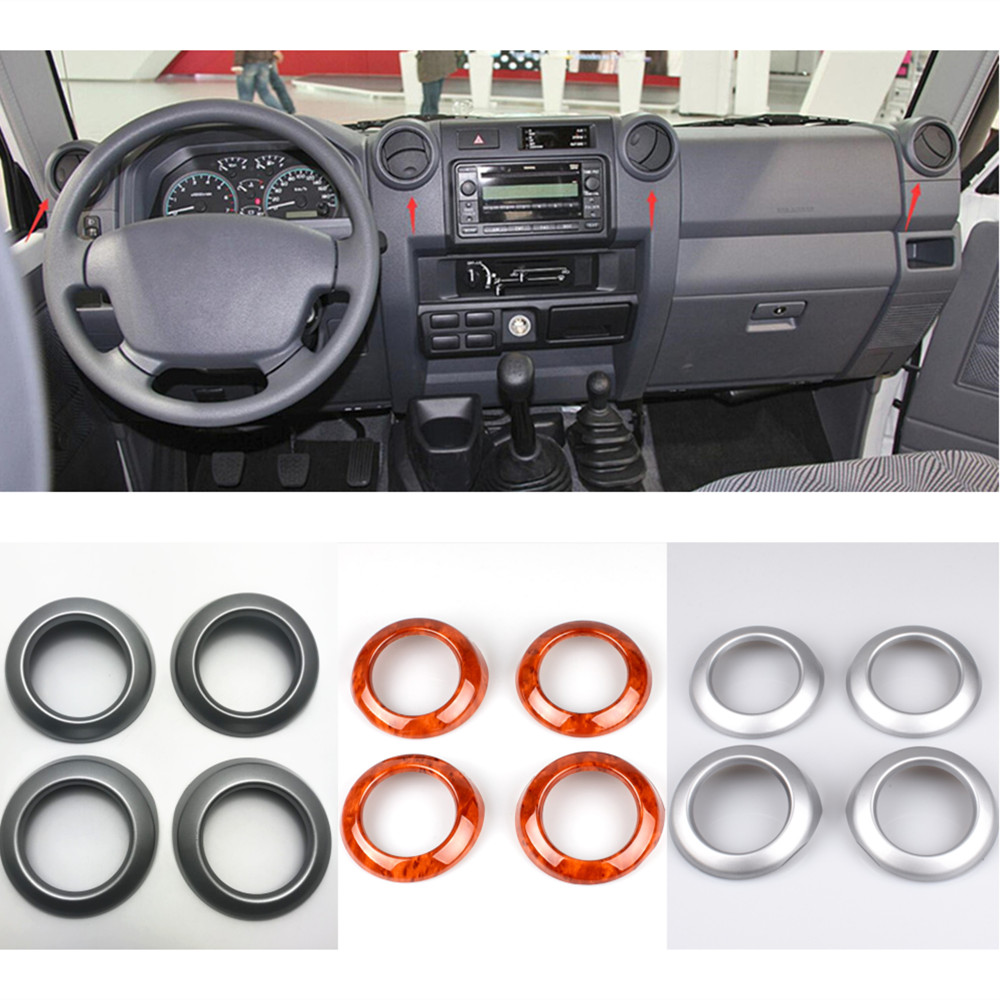 Interior Air Condition Vent Outlet Ring Trim For Toyota Land Cruiser J70 FJ70 FJ71 FJ76 FJ77
