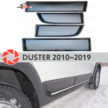 Дверные молдинги для Renault Duster 2010-2019 защитные пластиковые ABS защита украшения отделка Чехлы Тюнинг Автомобиля