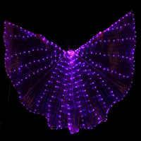 Hot-Selling Buikdansen LED Isis Wings Nice Oosterse Dance Accessoire LED Vleugels Sexy Show Rekwisieten Vleugels 5 kleuren