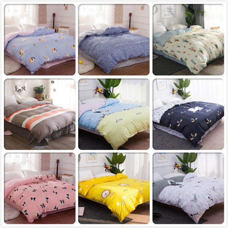High Quality Soft Cotton 1pcs Duvet Cover Bedding Bag Kids Child Single Twin Queen King Double Size Quilt Comforter Case 200x230