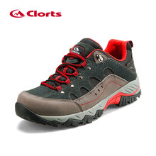 Clorts Nubuck Waterproof Hiking Shoes Track Abrasion Resistance Outsole Deodorant Breathable Insole Trekking Shoes HKL-815(China)